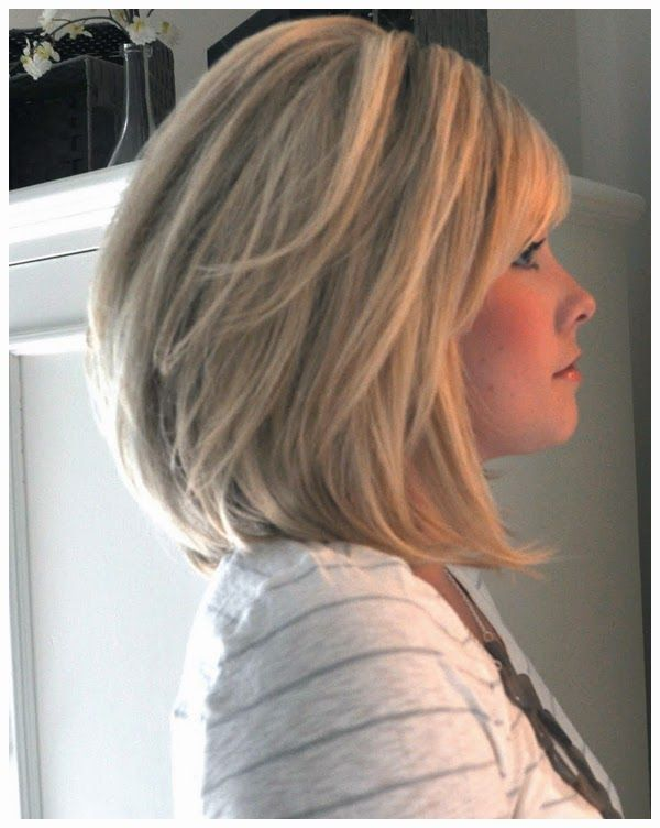 Above Shoulder Length Hairstyles For Thick Hair Live Style Thick Hair Styles Hair Lengths Hair Styles