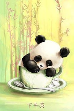 Panda Cup Pandas Dessin Animaux Mignons Panda Animaux