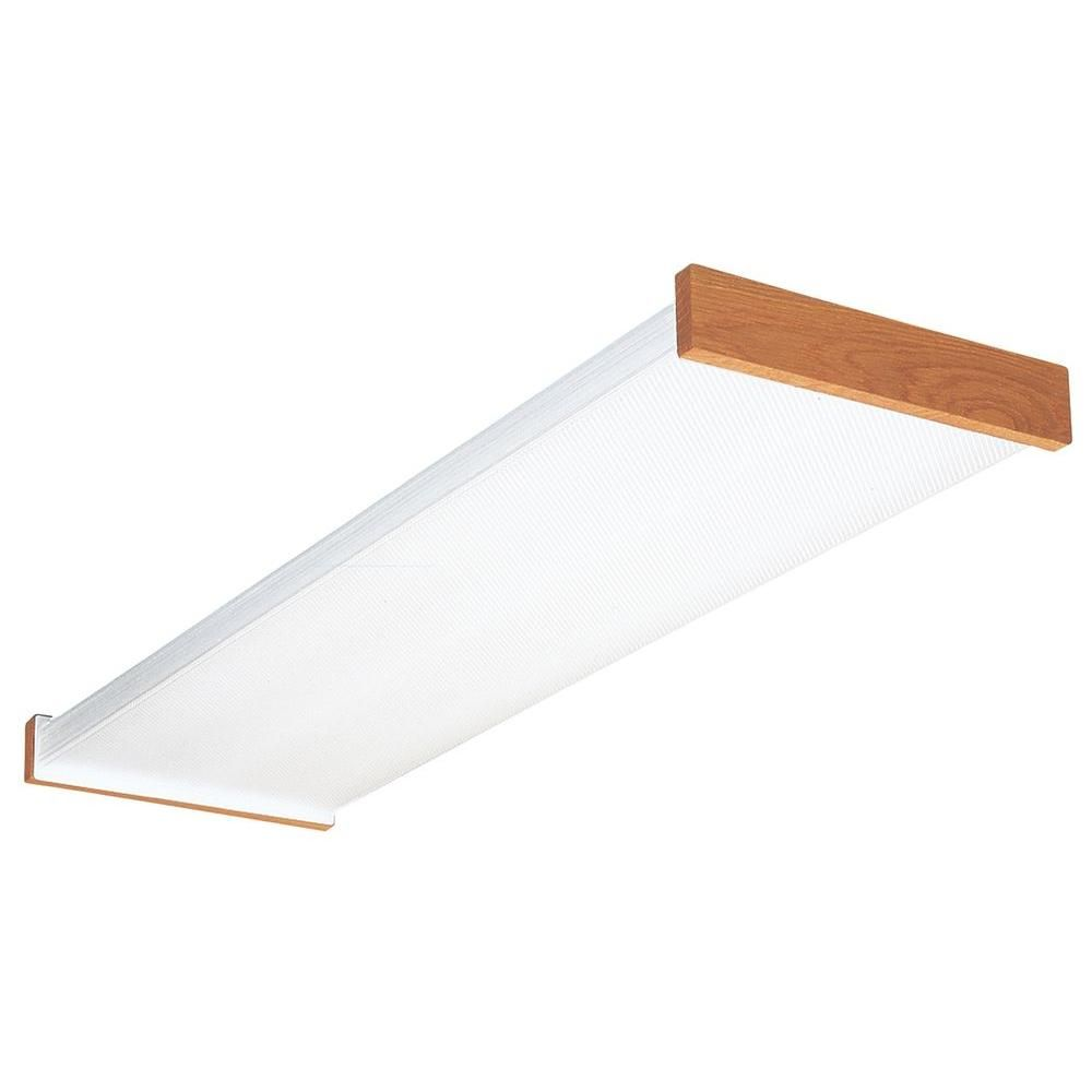 Lithonia Lighting 3255RE 4 ft  Wraparound Lens Fluorescent Ceiling     Lithonia Lighting 4 ft  Wraparound Lens Fluorescent Ceiling Fixture