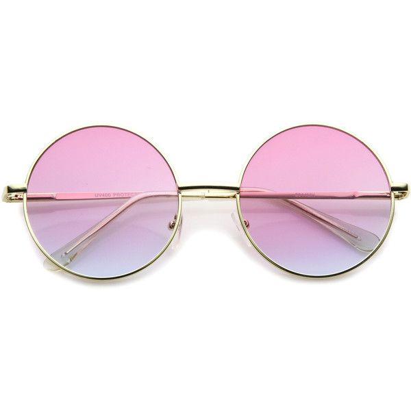 4586aa620 Retro Festival Oversize Round Color Lens Sunglasses A134 ($14) ❤ liked on  Polyvore featuring accessories, eyewear, sunglasses, glasses, extra, ...