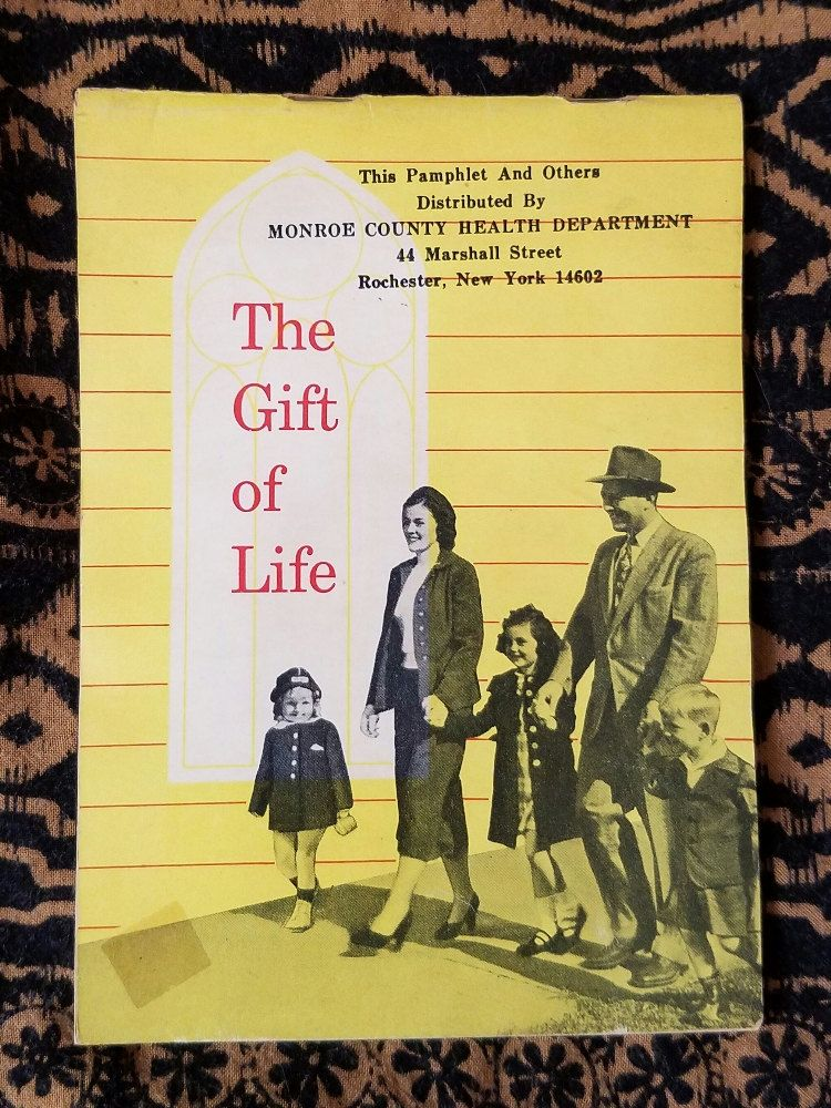 The Gift of Life NY State Dept of Health 1951 Pamphlet by ParagonAlley on Etsy