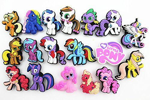 2 x My Little Pony Rainbow Dash Croc Shoe Charms Jibbitz Crocs Wristbands