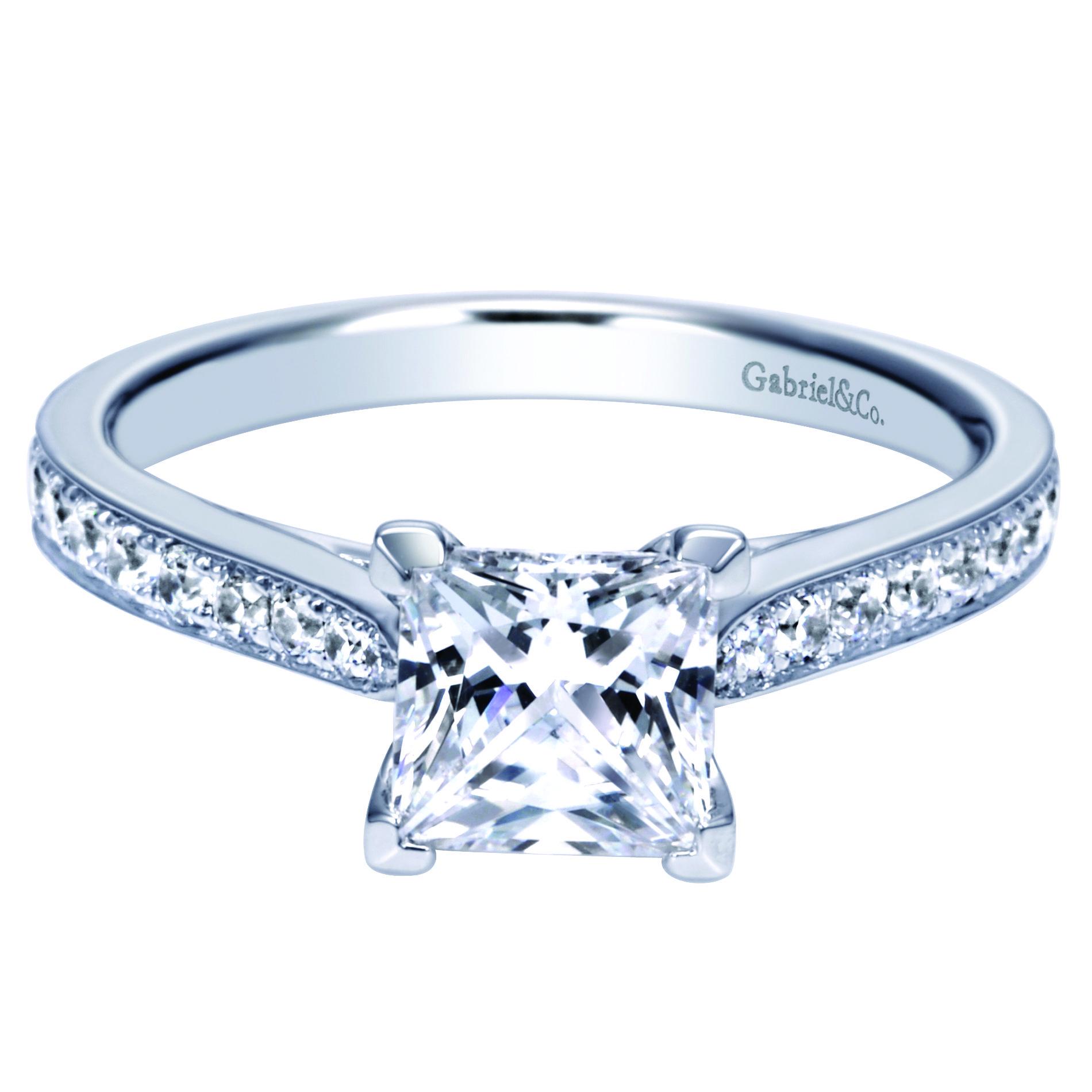 Timeless Princess Cut Diamond Engagement Ring from Steven Singer Jewelers #princesscut