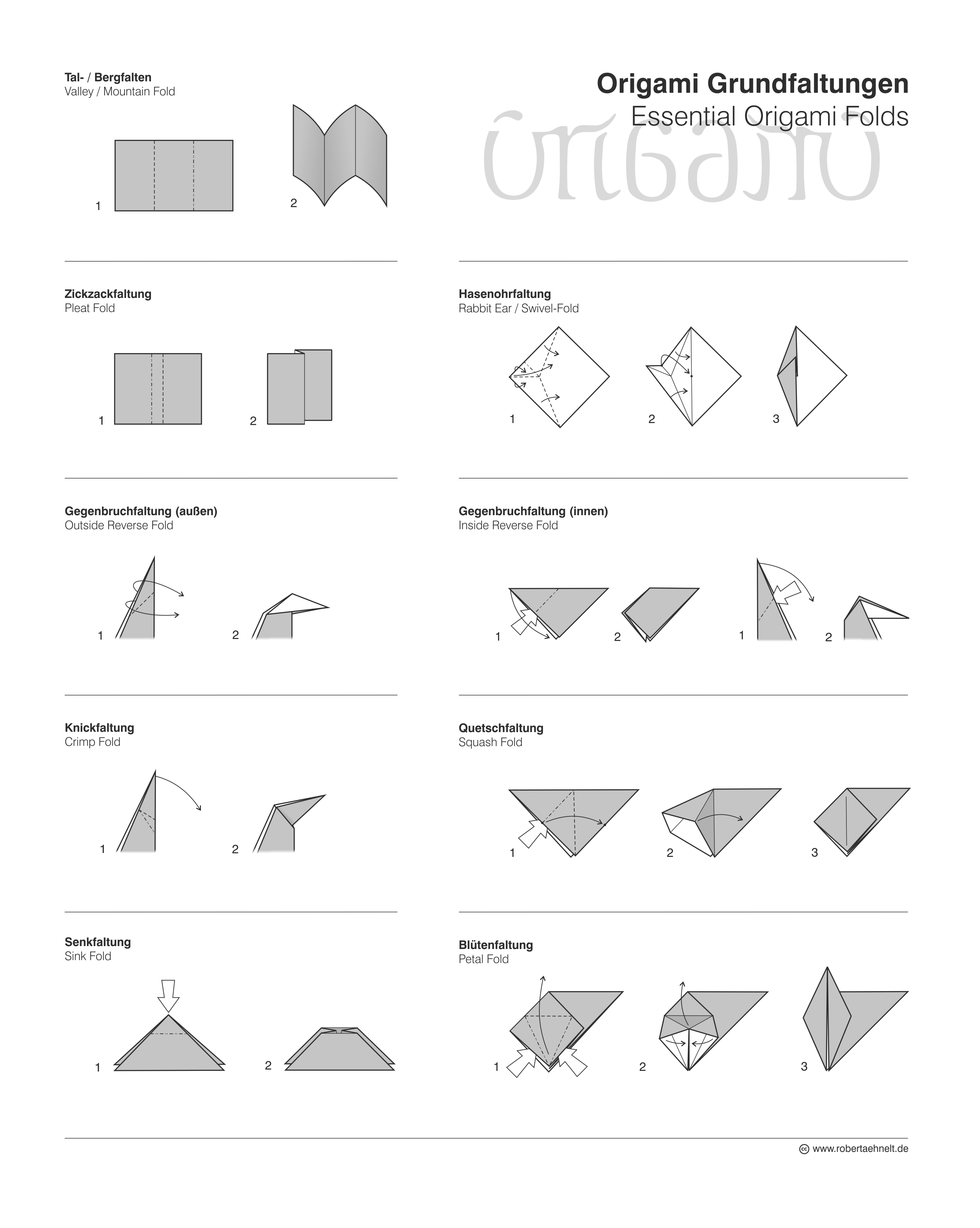 Paper folding techniques architecture techniques and materials origami fish base image collections crafts and frames ideas jeuxipadfo Image collections