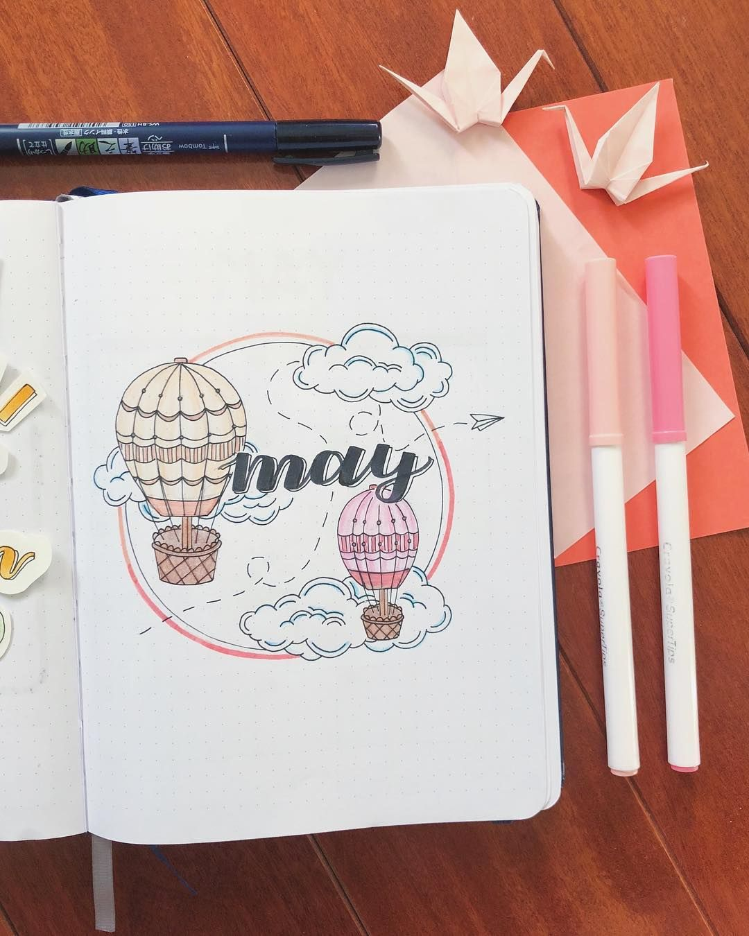 50+ Hot Air Balloon bullet journal layout Ideas and Spreads | My Inner Creative
