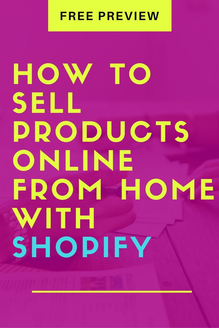 how to sell products online from home with shopify: etsy seller