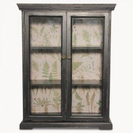W 52cm D 23cm H 67cm Brookby Black Bathroom Wall Cabinet