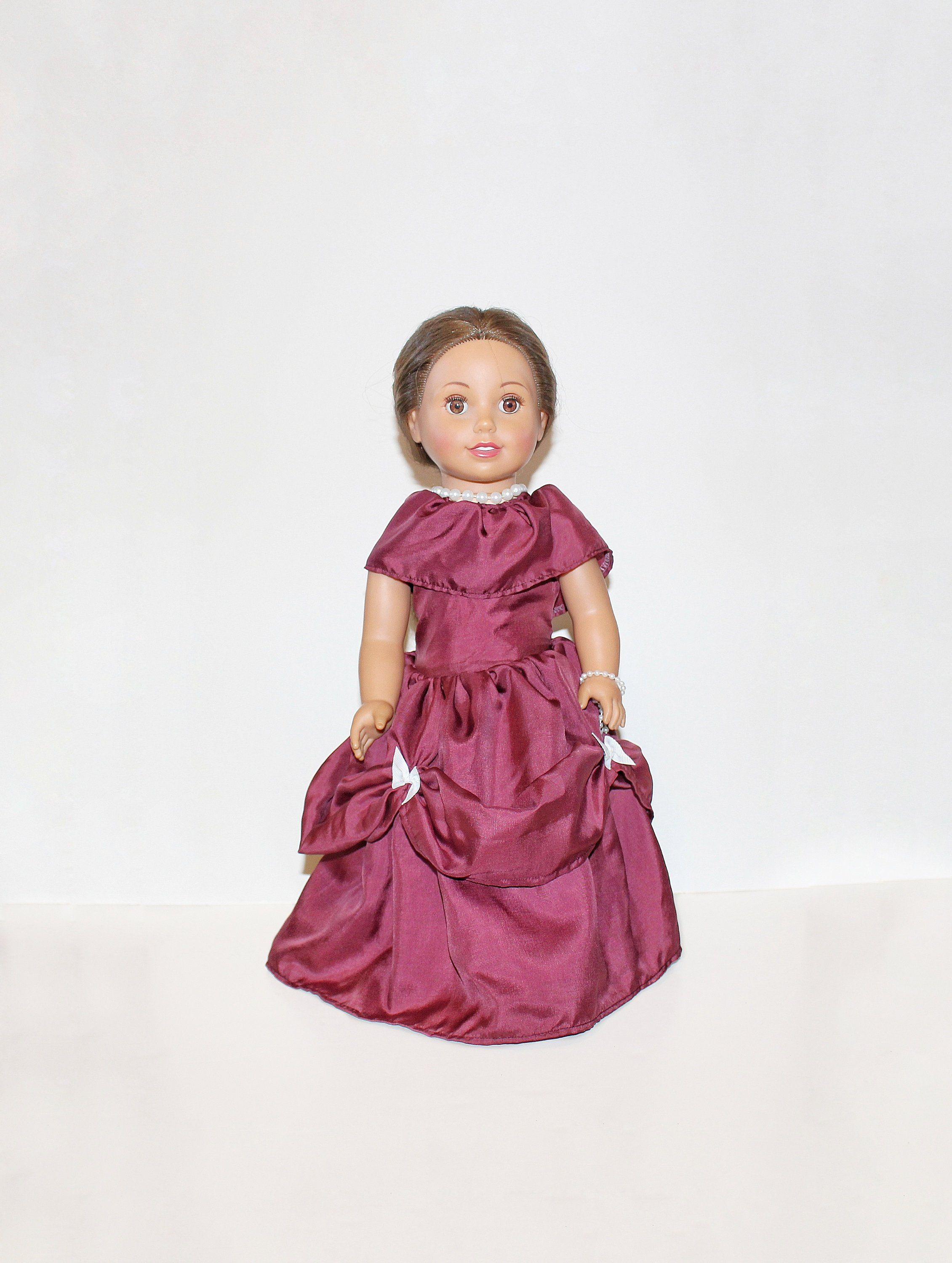 Rose Ball Gown Doll Dress, American Girl Doll, 18 Doll Clothes, Historical Doll Clothes, Gift Ideas for Girls, Christmas or Birthday, Toys #historicaldollclothes