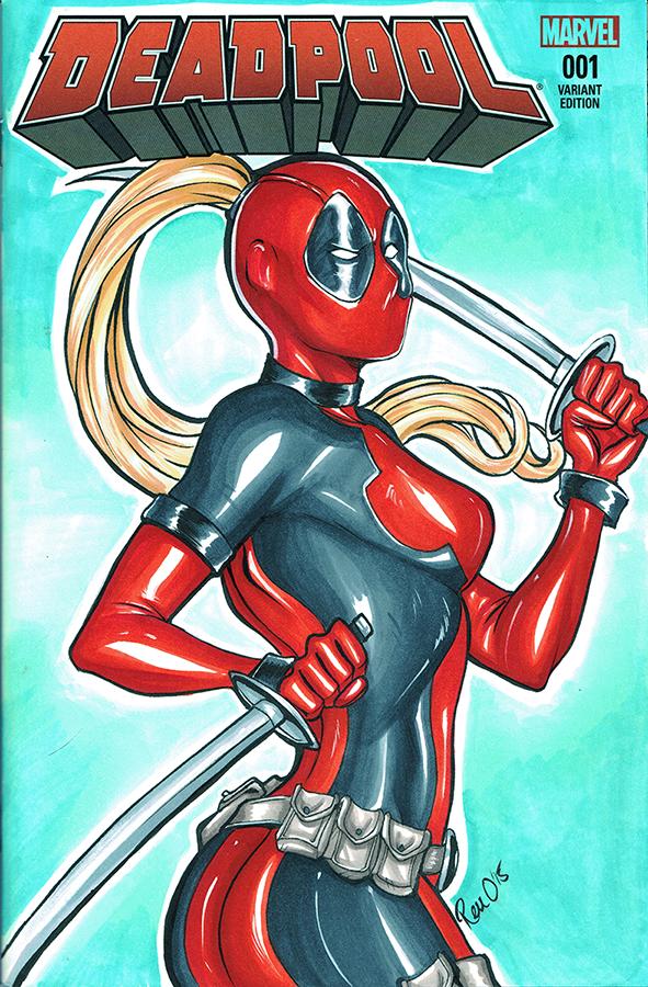 #Deadpool #Fan #Art. (Lady Deadpool Blank cover) By: AerianR. (THE * 5 * STÅR * ÅWARD * OF: * AW YEAH, IT'S MAJOR ÅWESOMENESS!!!™) ÅÅÅ+