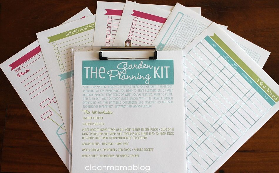 The Garden Planning Kit - Clean Mama Printables