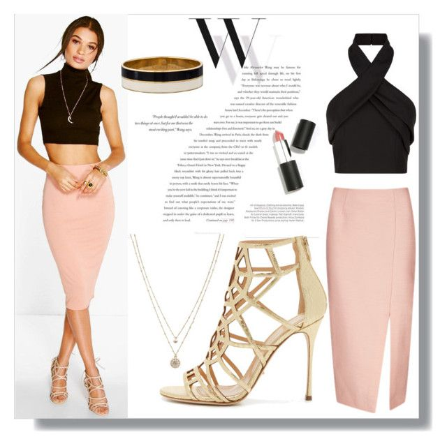 make it minimal by wulanhasibuan on Polyvore featuring Finders Keepers, Boohoo, C/MEO COLLECTIVE, Sergio Rossi, LC Lauren Conrad, Kate Spade, Sigma Beauty, Balenciaga, simple and women