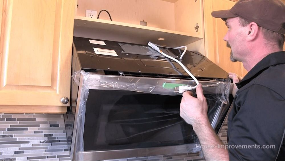 How To Install A Microwave Over The Range Style Youtube In