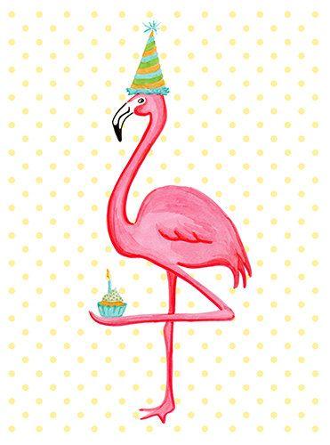 Birthday Greeting Card Pink Flamingo Who I Love Door Amelielegault