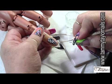 Tammy Taylor Color Splash Nail Art Technique Gel And Color
