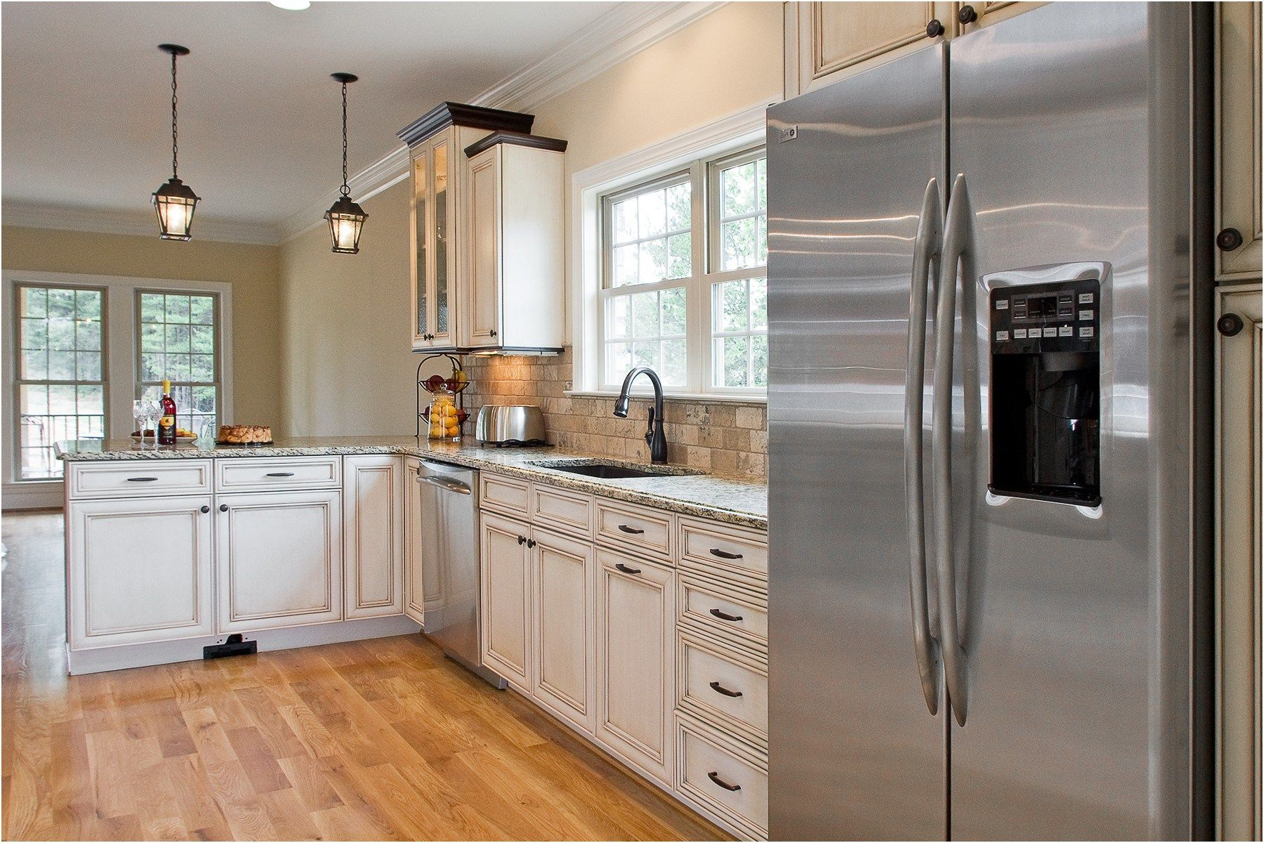 Lovely White Kitchen Stainless Steel Appliances