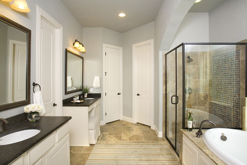 Tan Tile Bathroom Ideas Google Search Tan Bathroom Black Bathroom Black Granite Countertops