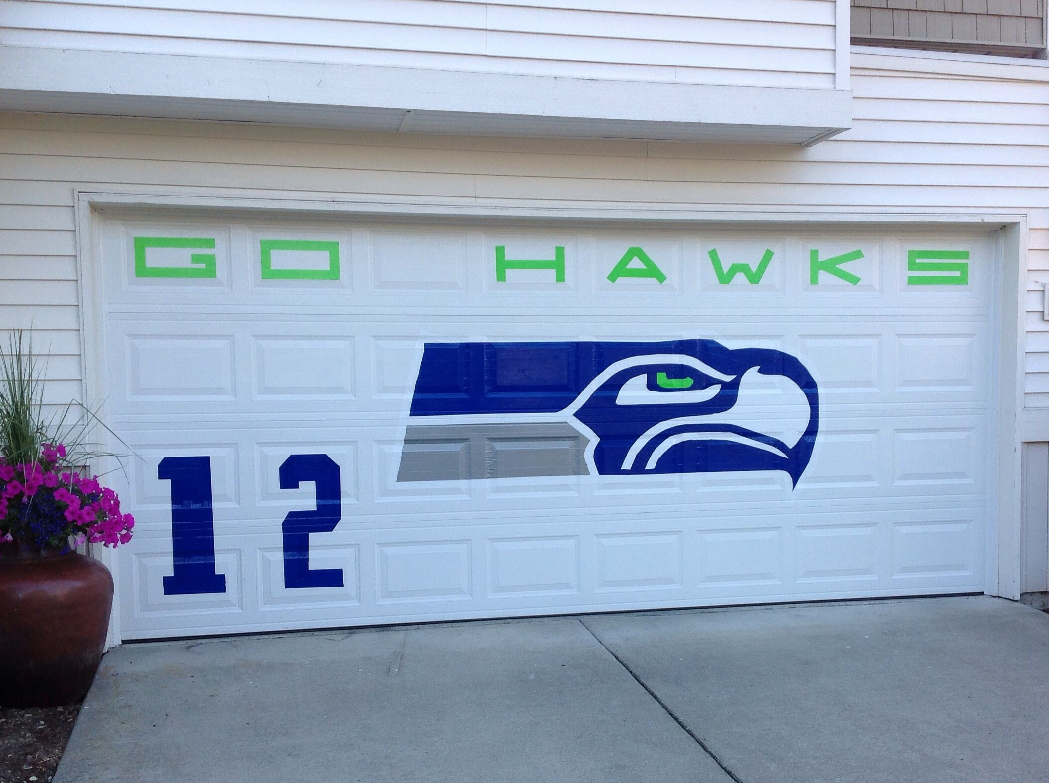 Love my Seattle Seahawks! Showing our Hawk pride at home in Auburn WA. GO HAWKS!