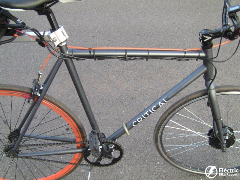 The Electrical Cable Routing Is Under The Top Tube The Brake