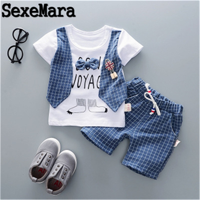 Baby Kids Girls Toddler Checked Top Vest+Short Pants Outfits Summer Clothes Set