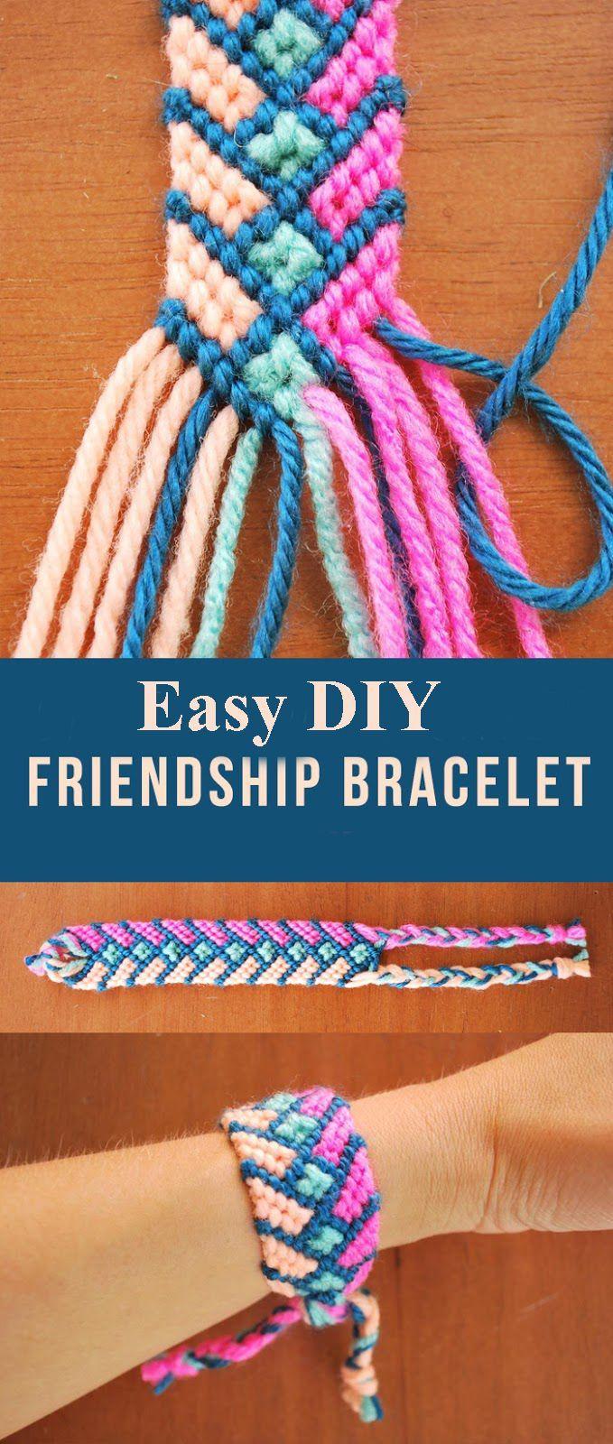 Easy DIY Friendship Bracelet Learn how to make Easy Friendship Bracelet DIY #urkds #Friendship_Bracelet_DIY #Friendship_Bracelet #easyfriendshipbraceletpatterns