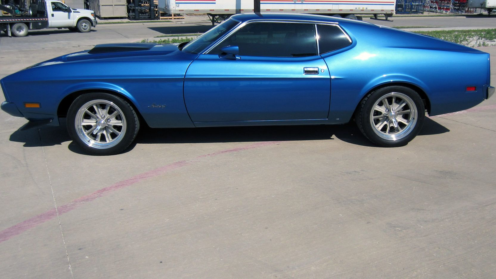 1973 ford mustang mach 1 fastback presented as lot s281 at dallas tx