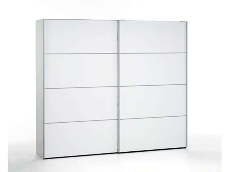 Armoire 2 portes coulissantes verona coloris blanc pas - Armoire conforama 2 portes coulissantes ...