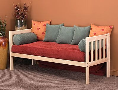 Mission Daybed by KD Frames. UGLY colors!!! But excellent example of ...