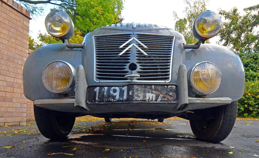 1957 2CV (robmcrorie) Tags: classic car yellow french lights citroen ...