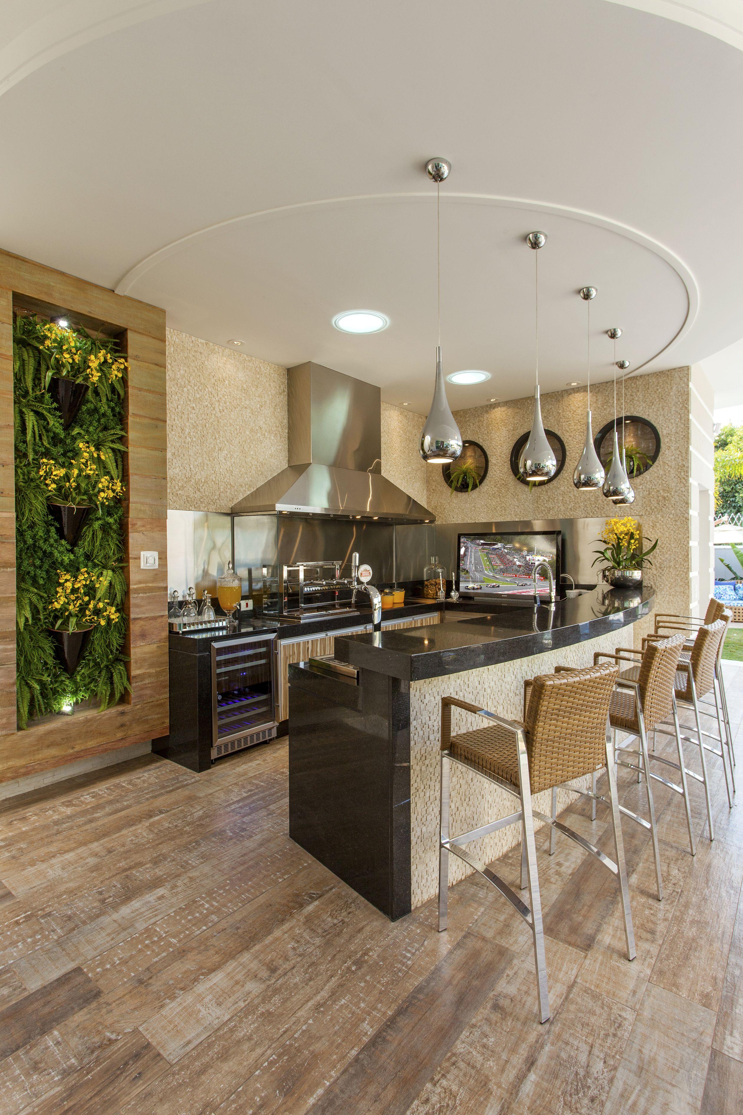 Lindo Balcao E Painel Verdeprojetos Residencias Casa Tripoli