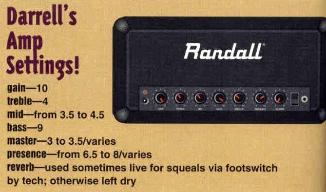 dimebag darrell pantera guitar rig amp settings guitar shop magazine 1994 guitar rigs. Black Bedroom Furniture Sets. Home Design Ideas