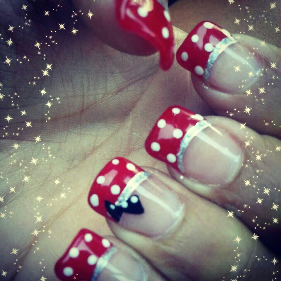 My Minnie Mouse nails. | Fashion | Pinterest | Minnie mouse nails ...