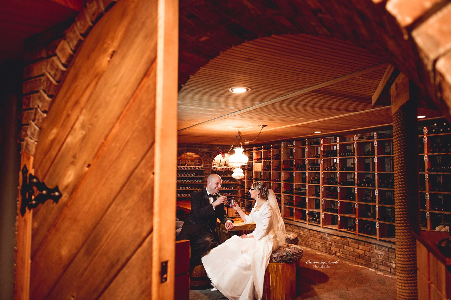 Wine Cellar At Chateau Hathorn Warwick NY Custom By Nicole Photography