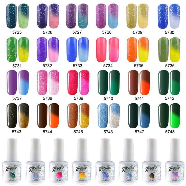 Temperature Chameleon Thermal Color Change Uv Led Soak Off Gel Nail Polish 15ml Color Change Nail Polish Soak Off Gel Nails Nail Polish