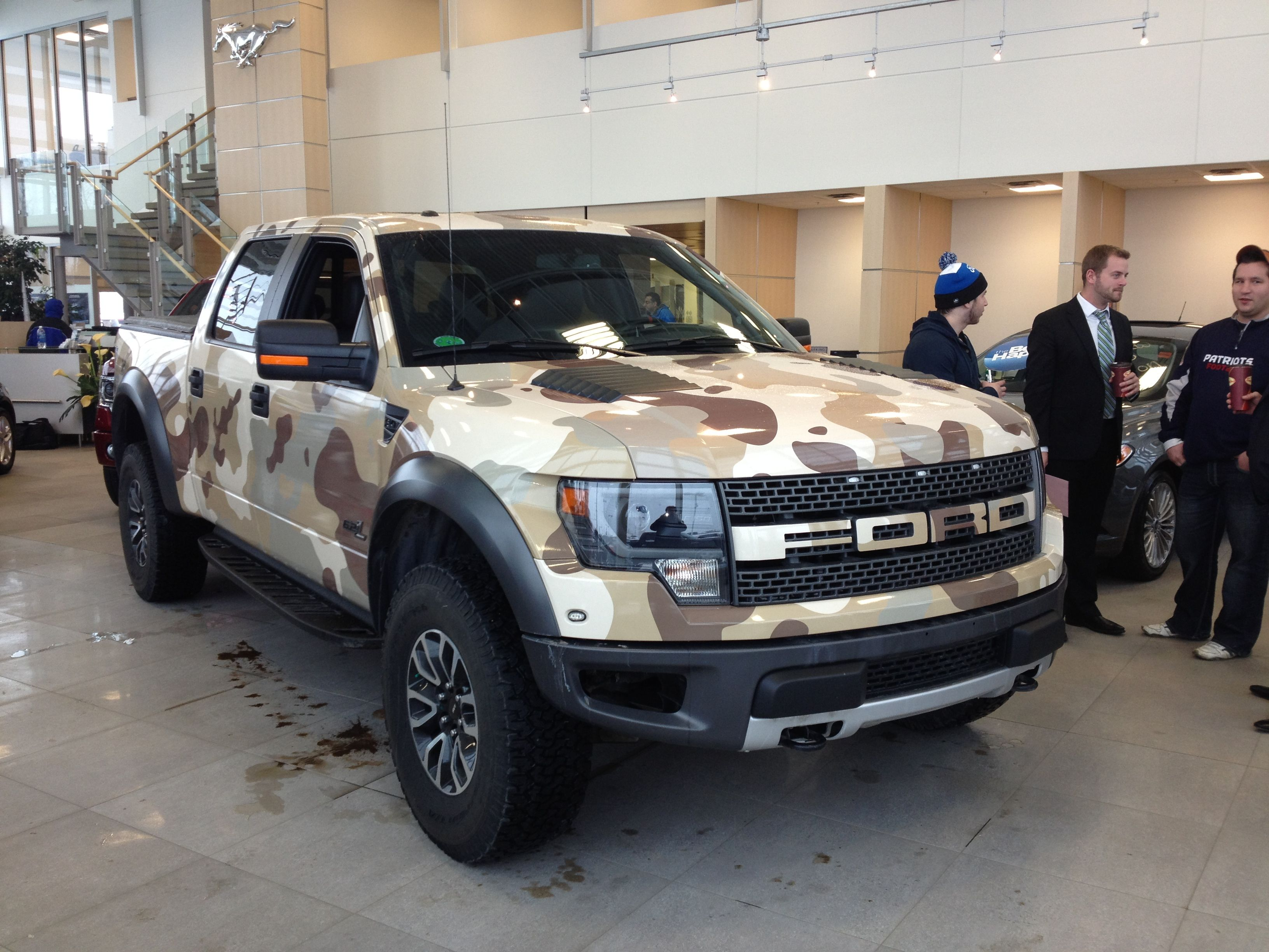 Ford F 150 Raptor Vinyl Wrapped In Camo Perfect Hunting
