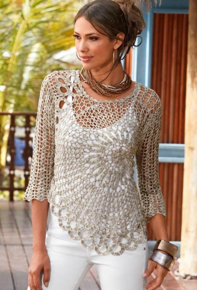 Patron gratuit robe de plage au crochet