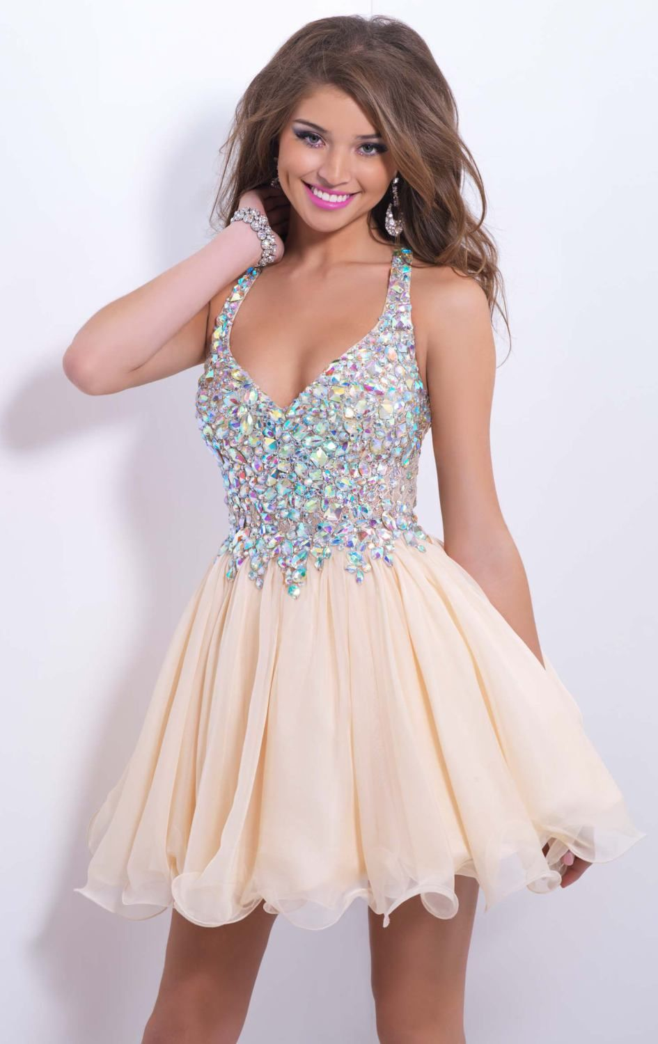 Make a lasting impression in Blush by Alexia 9857. This lovely ...