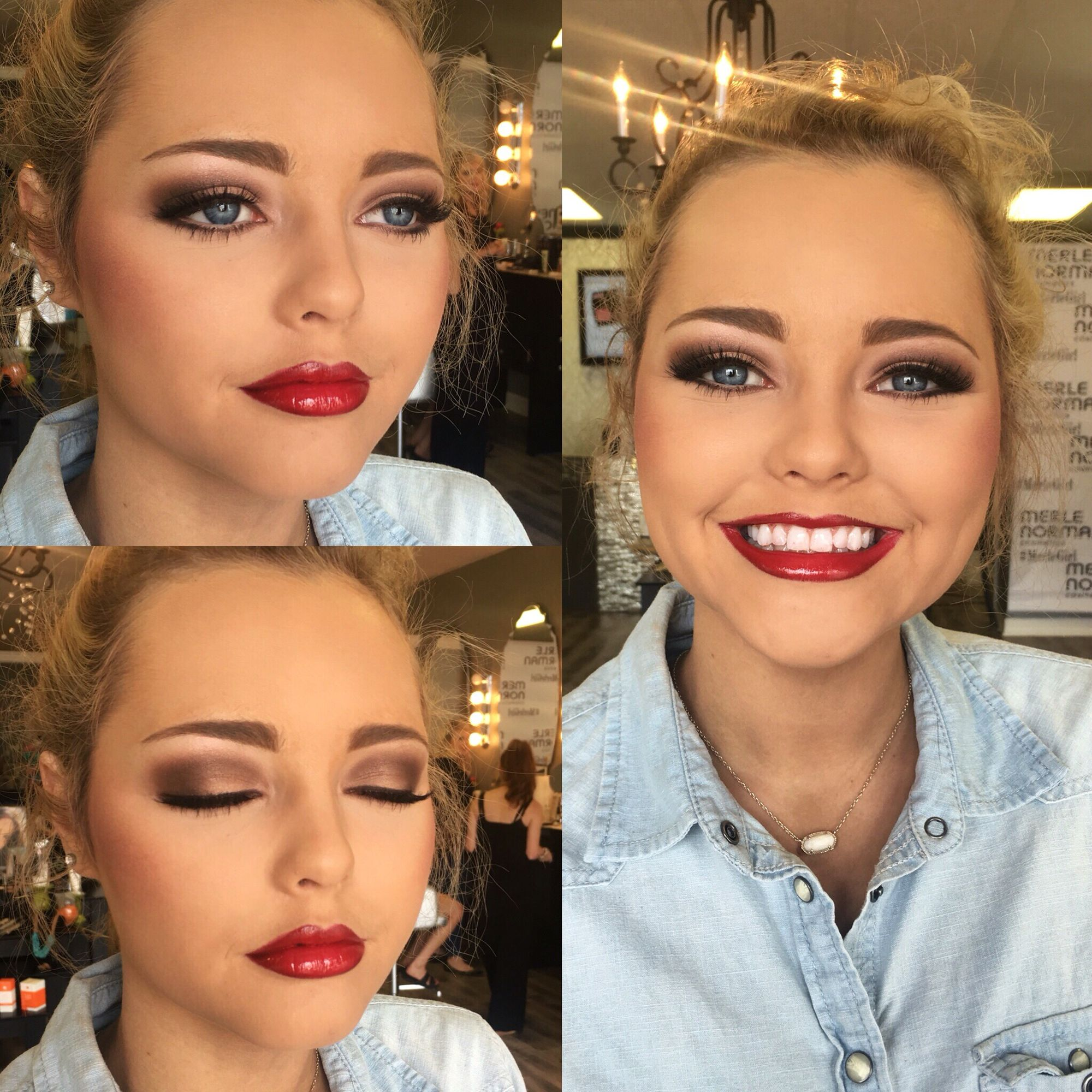 Prom Makeup Using All Merle Norman Cosmetics Products Makeup By Shae Parrot At Mn Orange Tx Merle Norman Makeup Prom Makeup Celebs Without Makeup