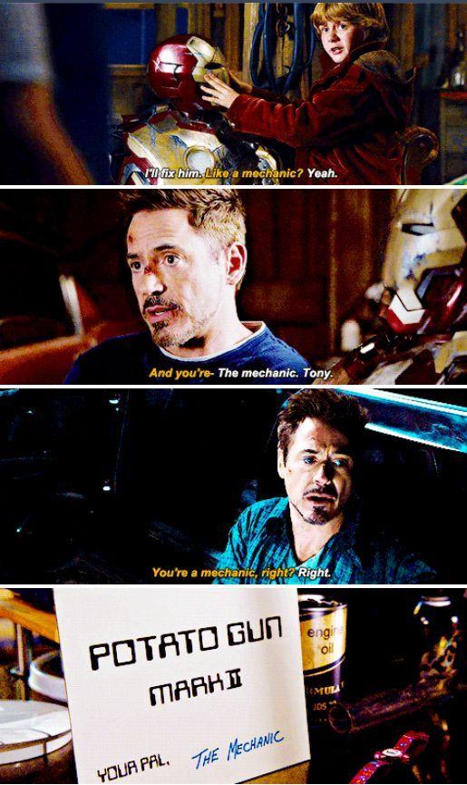 Harley meets Tony | Marvel | Marvel avengers, Iron man 3