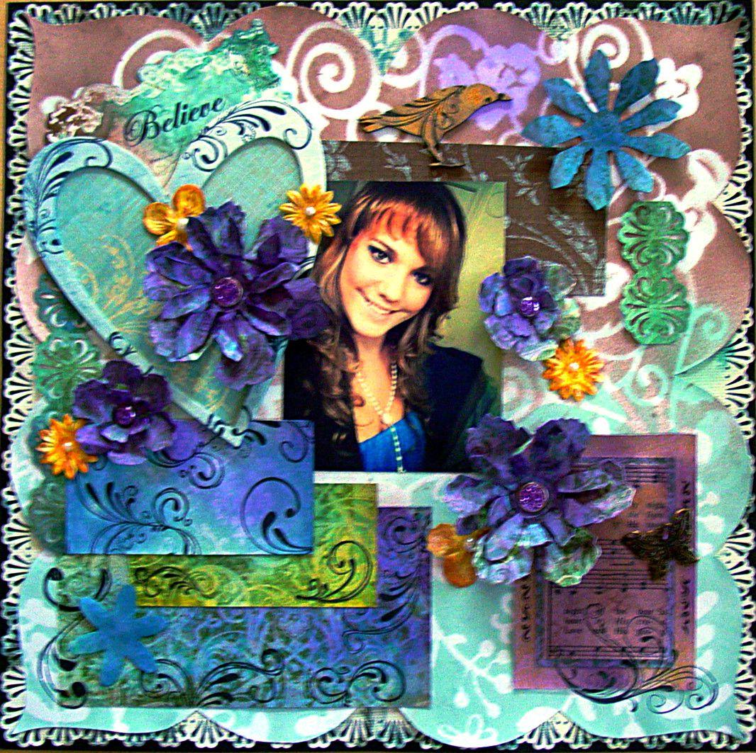Believe - Scrapbook.com  Love the colors.