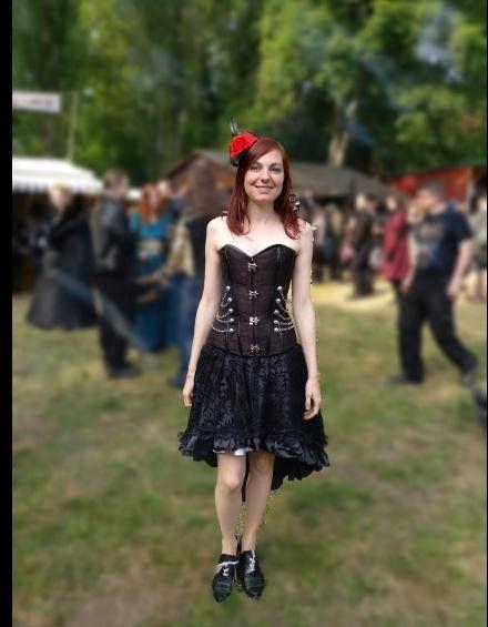 ef7898e0b8 Buy Cheap Gothic Jacquard Party Steampunk Black Lace Maxi Corset Dress for  Sale Online