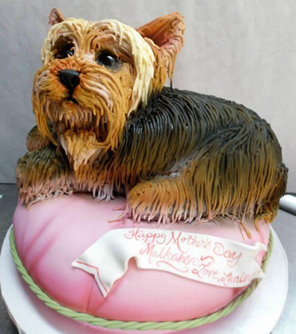 Custom Cakes Shaped Like Dog