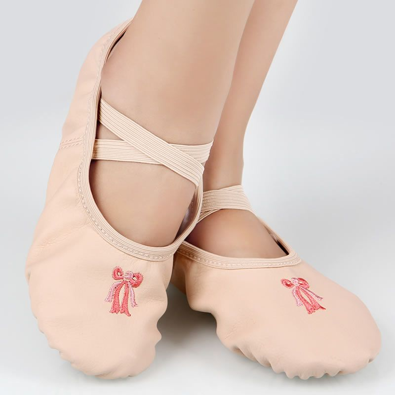 31e1c3814efc5 shoes girls 2017 stock shoes flat split soled shoes pu dance shoes leather black  pink ballet slippers children 5120
