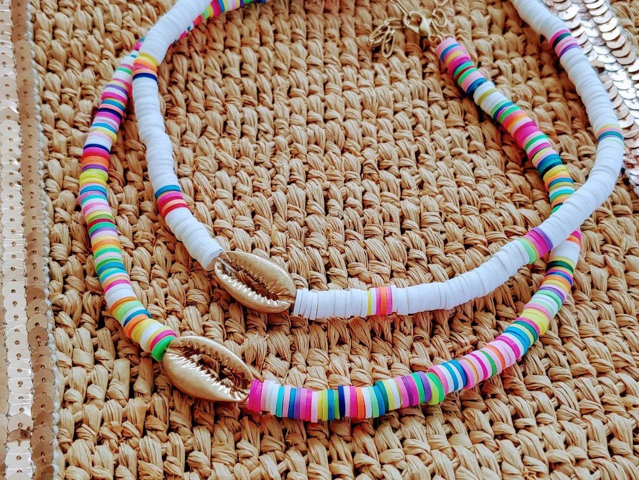Surfer Heishi Bead necklace Choker