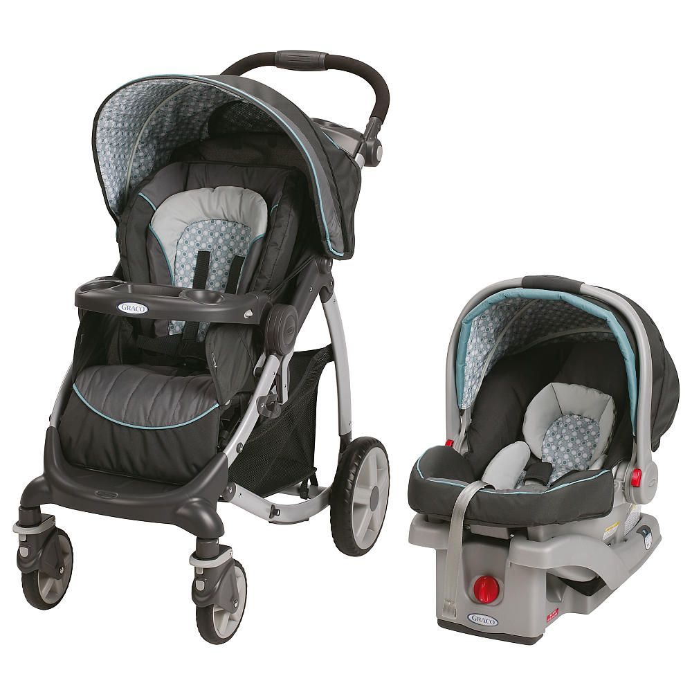 Graco Stylus Click Connect Travel System Stroller Spin
