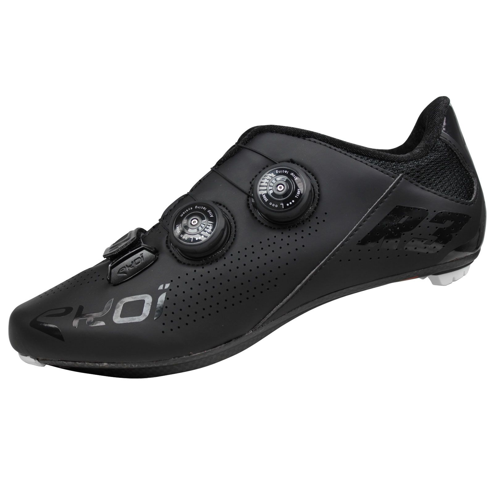 R3 matt black cycling shoes