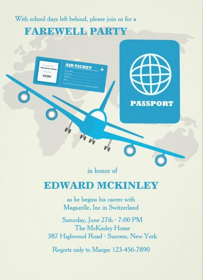 Airline Ticket Template Word Simple 20 Farewell Party Invitation Templates  Psdaiindesignword .