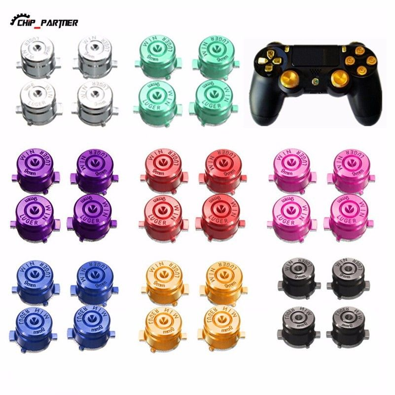 $2 05 - Aluminum Abxy Action Buttons Repair Parts For Ps4