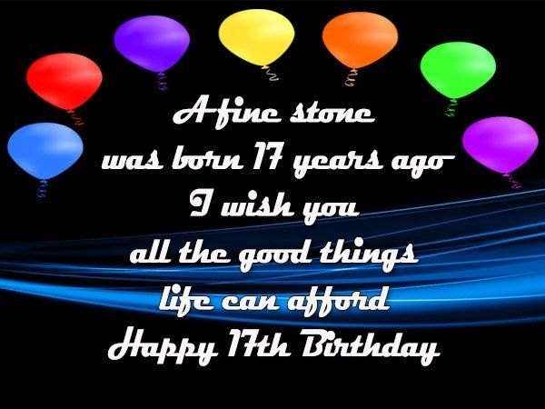 17th birthday wishes