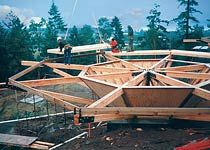Structural Construction of a Prefab Octagon Pedestal Home