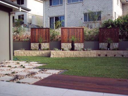 Garden design north Brisbane - GB heron garden wall ...